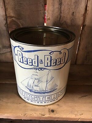 Reed & Reed Oyster tin can New Jersey