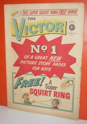 Victor Comic – First Three Issues  – Feb -  March 11th 1961