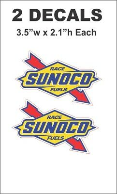 2 Vintage Style Sunoco Race Fuels Decal