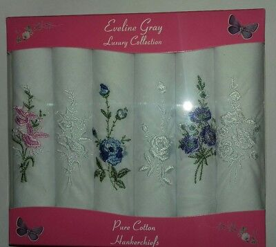 Ladies Embroidered Handkerchiefs Perfect Birthday Easter Gift Present