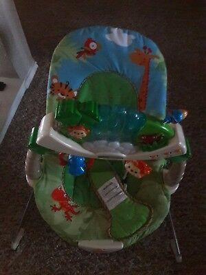 Fisher Price Rainforest Baby Bouncer Lights, Music, Nature Sounds - Awesome!!