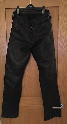 Mens Leather Trousers 30