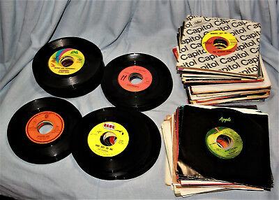 1960's and Early 1970's 45 RPM Records - Lot of 138 - NICE!