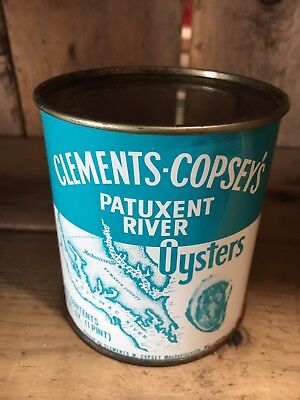 Clements Copsey's oyster tin pint maryland
