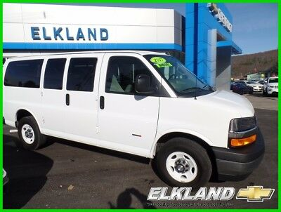 2017 Chevrolet Express Duramax Diesel 12 Passenger 11000 Miles Diesel Express Van 12 Passenger Navigation Remote Start Front & Rear Air WHITE