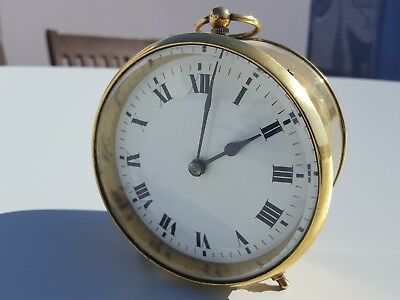 French Drum Case Carriage Clock in Brass. Excellent condition and timekeeper.