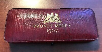1907 Great Britain Maundy Set Outstanding Original in Box of Issue CHN