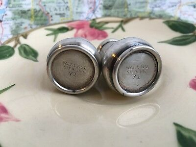 Vintage Sterling Wallace 71  Salt and Pepper Shakers.