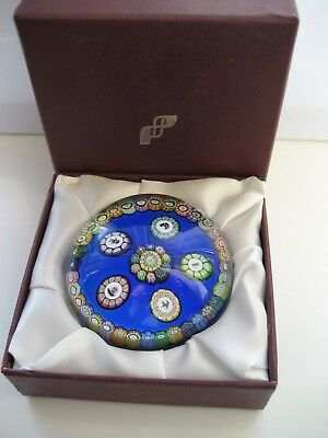 Perthshire Glass Millefiori Paperweight , P1982E , Date Cane+Box,only 201 made