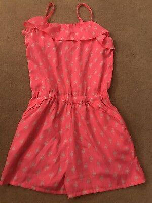 Girls Playsuit Age 10 Pink Flamingo