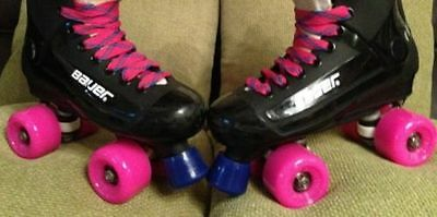 Bauer turbo original roller skate size 3,4,5,6,7,8 pink Sims /laces