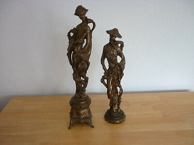 Spelter Chinese Figures