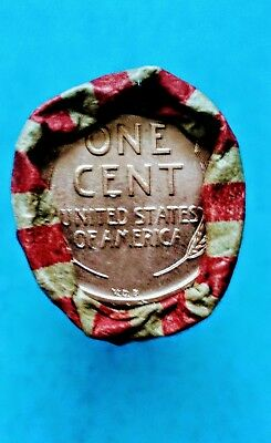 Roll of lincoln wheat pennys with 1909 (s)? vdb and 1908 (s) ? indian head penny