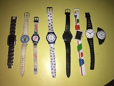 Job Lot Bundle Of Watches Swatch, Lorus, Nike, New York Yankees Etc