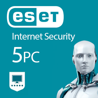 ESET Internet Security 2019 5 dispositivi 5 PC 1 anno PC MAC ANDROID 2018 IT EU