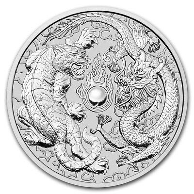 2018 Australia 1 oz Silver Dragon and Tiger BU 2nd release!! Pre sale