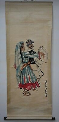 Fine Large Chinese Painting Scroll Signed Master Huang Zhou Rare Rc9161