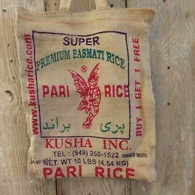 Burlap Kusha super Basmati Angel rice sack