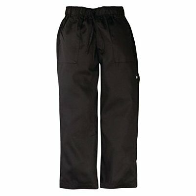 Chef obras a674-xl Executive Chef Pantalones, Herringbone, XL, negro