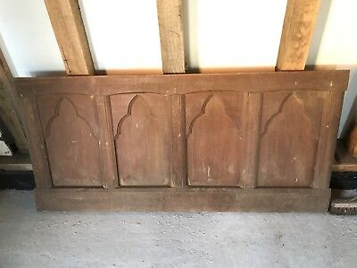 Salvaged Wall Panneling Reclaimed Vintage Original Oak Panelling Two Sections
