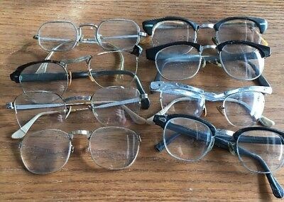 8 Pairs Of Eyeglasses 10 & 12 K  GF For Scrap