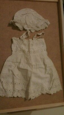 Vintage/ antique baby's dress and hat