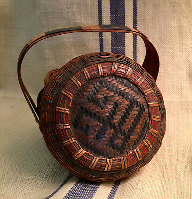 Late 19th/early 20th century Pine Basket Vantine's New York Orient