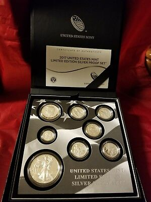 **2017 United States Mint Limited Edition 8pc Silver Proof Set** (Ready To Ship)