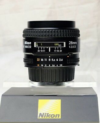 Nikon AF Nikkor 28mm f/2.8D FX Excellent Condition Serial No: 473277