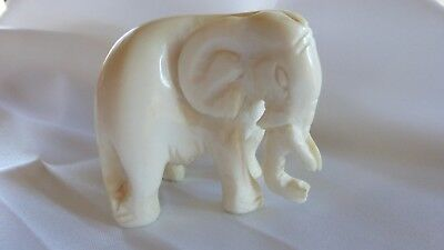 Vintage Carved Japanese Netsuke Elephant Outstanding Condition