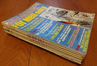 Vintage For Men Only Adult Magazine Lot 6 Issues 1970-71 Stag PULP Pinup +more