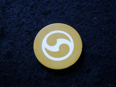 Yellow Roulette Illegal Casino Antique Poker Chip Gambling Game Vintage