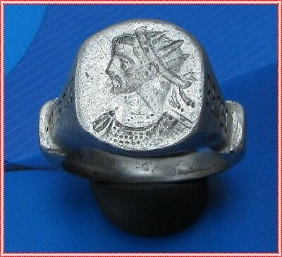 **VIRTUS PROBI **Ancient Silver Legionary Roman INSCRIPTION Ring**AMAZING**19,5g