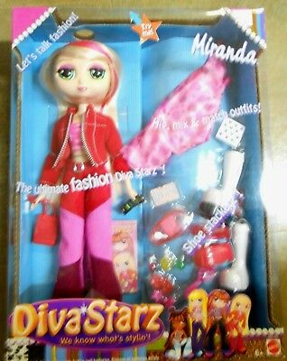 Mattel 2002 Diva Starz Fashion Doll Talking Miranda MIx n Match Outfits Shoes ++