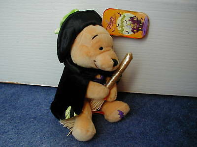 Disney Store Pooh As Witch Halloween Bat Beanbag Brand New Very Rare Last One