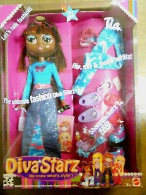 Mattel 2002 Diva Starz Fashion Doll Talking Tia  MIx n Match Outfits Shoes +++