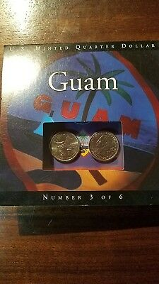 2009 U.s. Minted P&d Quater Dollars  Guam  Very Nice Set