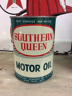 1960's SOUTHERN QUEEN 1 qt Motor Oil Can - High Point, NC