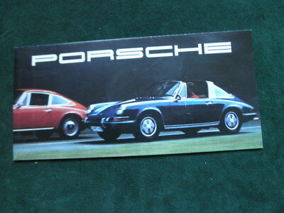 1969 Porsche Brochure Coupe Targa 911T 911 S 911E 912 Folds Out