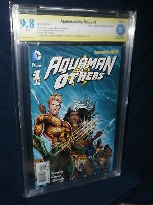 !Aquaman and the Others #1 Signed by Jason Momoa! 9.8 CBCS one of a kind WoW!