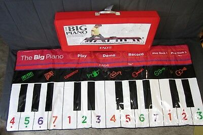 """FAO Schwarz The Big Piano Keyboard Play Mat 70"""" Long Recordable EXCELLENT++"""