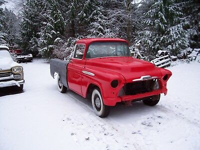 1957 Chevrolet Other Pickups deluxe chrome 1957 chevrolet cameo pickup truck rust free factory V/8 automatic like apache
