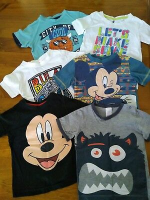 Bundle of 6 boys tshirts - size 2