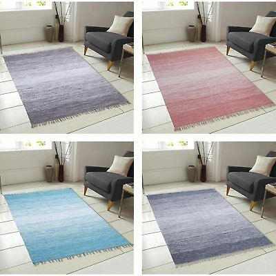 Ombre Cotton Fringe Area Rug (5' x 7')