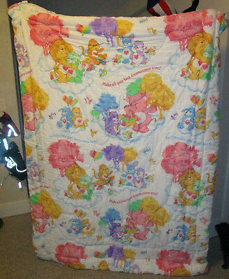 Collectible Vintage Care Bear Cousin's Twin Size Comforter