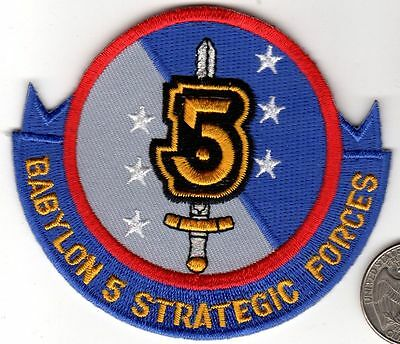 Babylon Five 5 STRATEGIC FORCES Squadron Patch Star TV Series