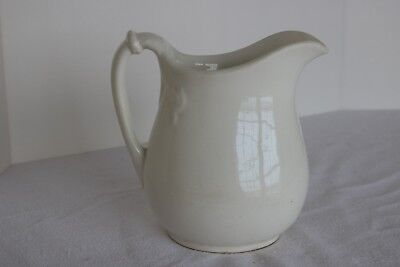 "Vintage 7 5/8"" White Ironstone China Pitcher"