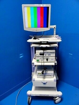 Olympus Endoscopy Tower W/ OTV-S7 Console / Camera CLH-250 Light & Printer~12817