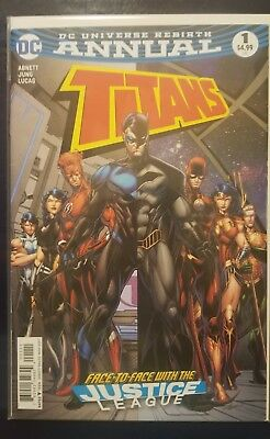 Titans Annual #1,DC Rebirth, Face to Face with the Justice League, 2017