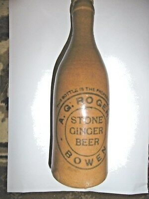 HARD TO FIND...GINGER BEER BOTTLE...A.G. BOWEN, NORTH QLD [free post ]